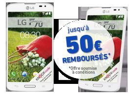 visuel du téléphone LG F70 Blanc