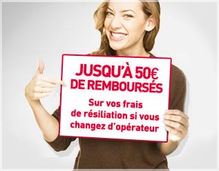 Jusqu'à 50 euros de remboursés sur vos frais de résiliation si vous changez d'opérateur
