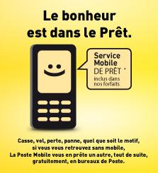 En cas de perte, vol ou tout autre motif, profitez du service prêt de mobile.