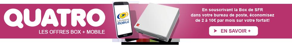 économisez plus avec Quatro, votre forfait mobiel + Box de SFR