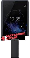 Sony XZ2 compact et étui noir offert