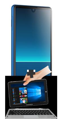 Sony Xperia L4 bleu 4G+ et PC Hybride