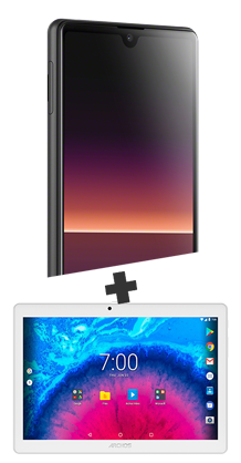 Sony Xperia L4 noir 4G+ et Tablette 10.1