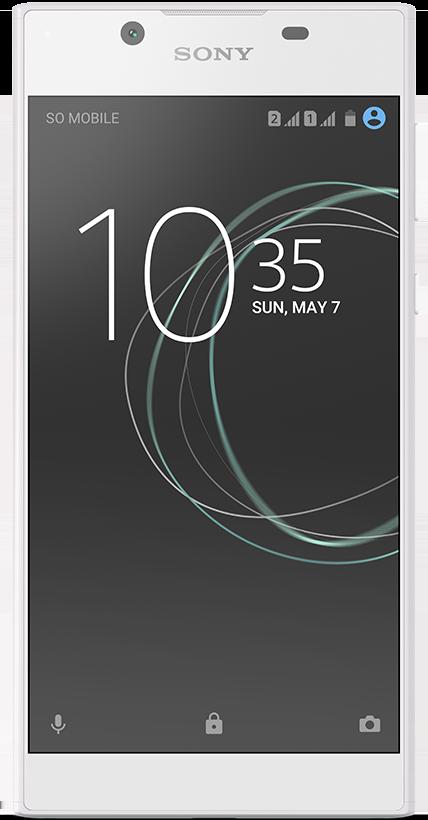 Sony Xperia L1 blanc et Drop Protect