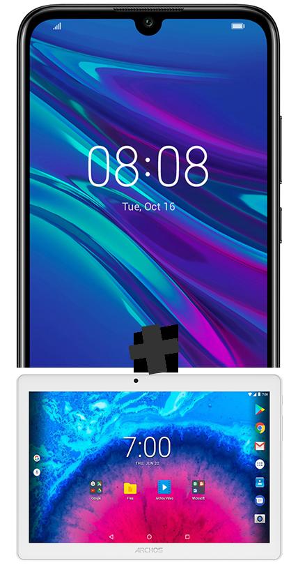 Huawei Y6 2019 noir et Tablette 10.1''