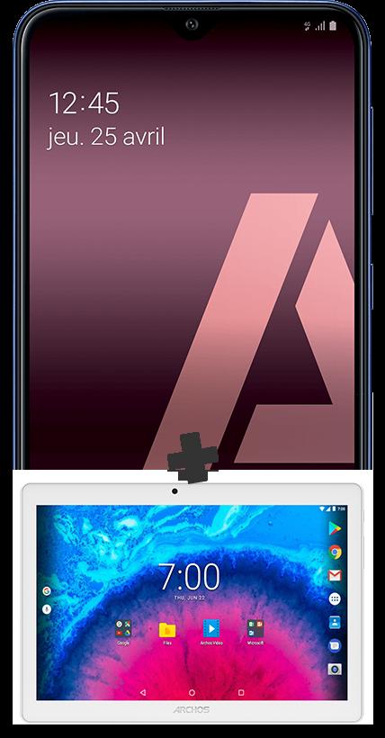 Samsung A10 noir 4G et Tablette 10.1''