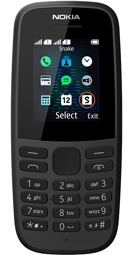 Nokia 105 2019 noir double SIM