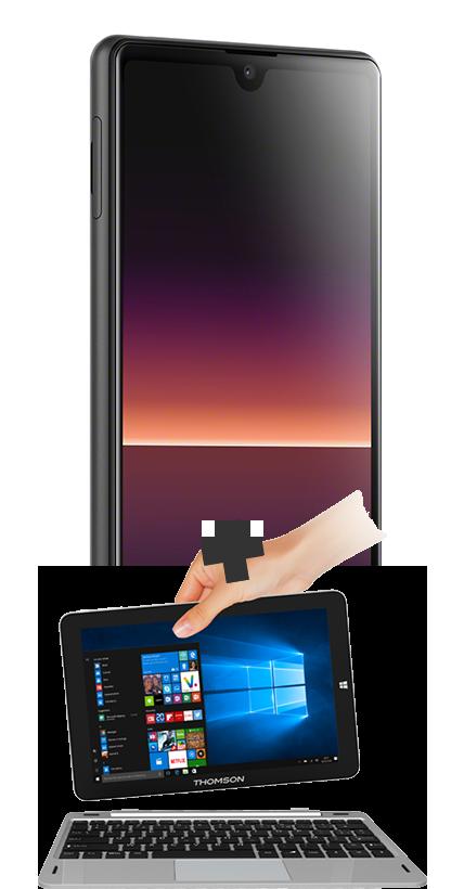 Sony Xperia L4 noir 4G+ et PC Hybride