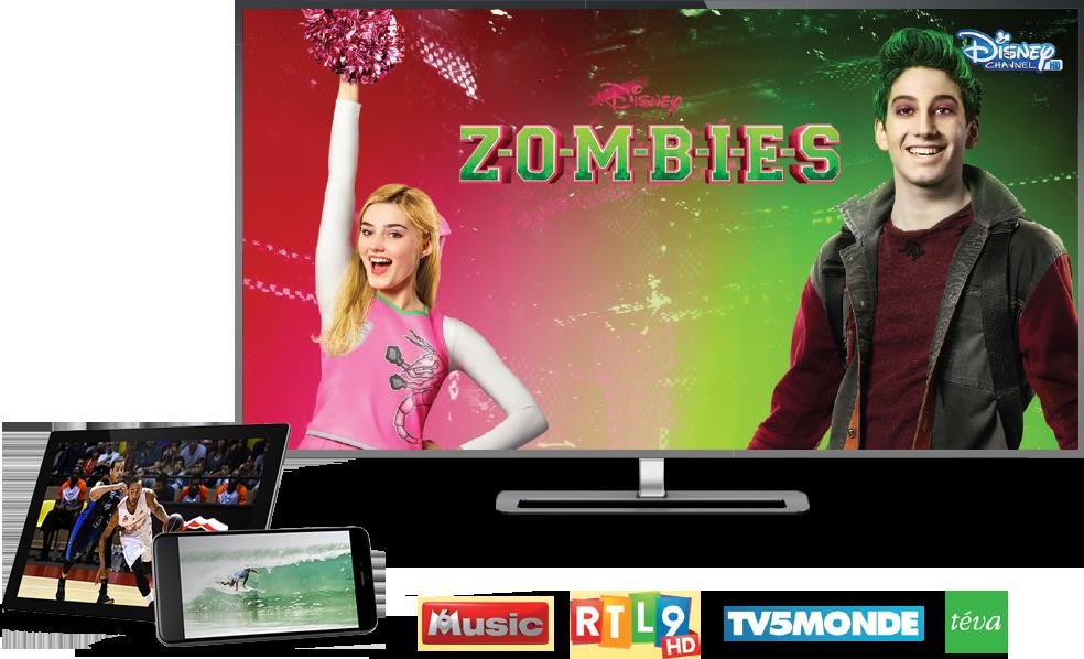 tv tablette et smartphone avec box internet