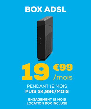 Box Très Haut Débit à 14,99€/mois pendant 12 mois, Box incluse