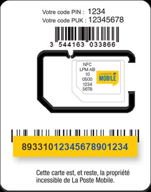 activer carte sim la poste Activer votre carte SIM Forfait sans engagement