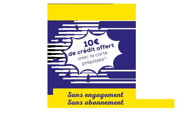 offre prépayée la poste mobile - 10€ de crédit offerts avec la carte prepayée
