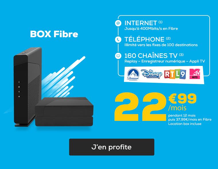BOX Fibre à 22,99€/mois pendant 12 mois, Box incluse !