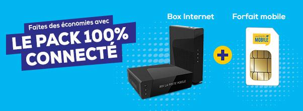 Faites des économies avec le Pack 100% Connecté : Box Internet + Forfait Mobile