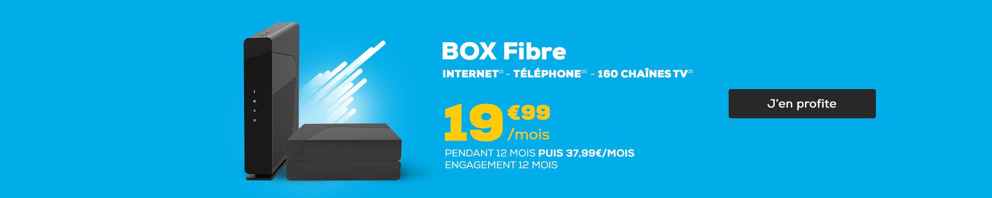 L'offre du moment - Box ADSL et THD 14,99€ / mois pendant 12 mois
